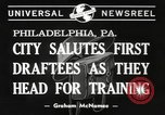 Image of draftees Philadelphia Pennsylvania USA, 1940, second 6 stock footage video 65675057686