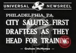 Image of draftees Philadelphia Pennsylvania USA, 1940, second 7 stock footage video 65675057686