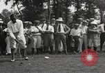 Image of American golfer Walter Hagen ready to tee off Europe , 1920, second 9 stock footage video 65675057700