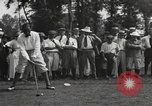 Image of American golfer Walter Hagen ready to tee off Europe , 1920, second 12 stock footage video 65675057700