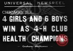 Image of 4-H clubs health winners Chicago Illinois, 1937, second 1 stock footage video 65675057737