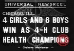 Image of 4-H clubs health winners Chicago Illinois USA, 1937, second 2 stock footage video 65675057737