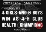 Image of 4-H clubs health winners Chicago Illinois USA, 1937, second 3 stock footage video 65675057737