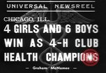 Image of 4-H clubs health winners Chicago Illinois, 1937, second 5 stock footage video 65675057737
