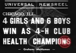 Image of 4-H clubs health winners Chicago Illinois USA, 1937, second 9 stock footage video 65675057737
