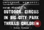 Image of Circus in Central Park New York City USA, 1937, second 2 stock footage video 65675057739