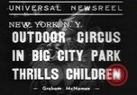 Image of Circus in Central Park New York City USA, 1937, second 7 stock footage video 65675057739