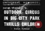 Image of Circus in Central Park New York City USA, 1937, second 8 stock footage video 65675057739