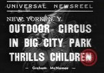 Image of Circus in Central Park New York City USA, 1937, second 9 stock footage video 65675057739