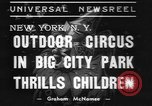 Image of Circus in Central Park New York City USA, 1937, second 11 stock footage video 65675057739