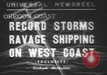 Image of storm Oregon United States USA, 1937, second 1 stock footage video 65675057740