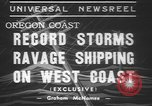 Image of storm Oregon United States USA, 1937, second 2 stock footage video 65675057740