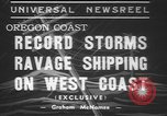 Image of storm Oregon United States USA, 1937, second 6 stock footage video 65675057740