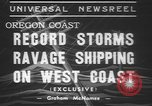 Image of storm Oregon United States USA, 1937, second 7 stock footage video 65675057740