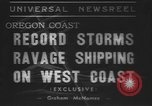 Image of storm Oregon United States USA, 1937, second 11 stock footage video 65675057740
