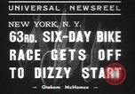 Image of six day bike race New York United States USA, 1937, second 2 stock footage video 65675057742