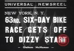 Image of six day bike race New York United States USA, 1937, second 3 stock footage video 65675057742