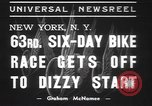 Image of six day bike race New York United States USA, 1937, second 6 stock footage video 65675057742