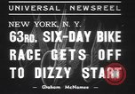 Image of six day bike race New York United States USA, 1937, second 8 stock footage video 65675057742