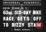 Image of six day bike race New York United States USA, 1937, second 9 stock footage video 65675057742