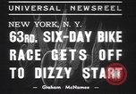 Image of six day bike race New York United States USA, 1937, second 10 stock footage video 65675057742