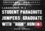 Image of naval parachute jumping school New Jersey United States USA, 1937, second 1 stock footage video 65675057743
