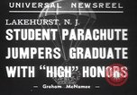 Image of naval parachute jumping school New Jersey United States USA, 1937, second 2 stock footage video 65675057743