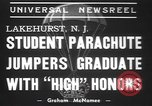 Image of naval parachute jumping school New Jersey United States USA, 1937, second 3 stock footage video 65675057743