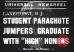 Image of naval parachute jumping school New Jersey United States USA, 1937, second 4 stock footage video 65675057743