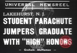 Image of naval parachute jumping school New Jersey United States USA, 1937, second 6 stock footage video 65675057743