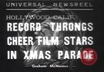 Image of Hollywood Christmas parade Hollywood Los Angeles California USA, 1937, second 1 stock footage video 65675057744