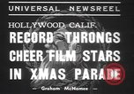 Image of Hollywood Christmas parade Hollywood Los Angeles California USA, 1937, second 8 stock footage video 65675057744