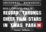 Image of Hollywood Christmas parade Hollywood Los Angeles California USA, 1937, second 9 stock footage video 65675057744