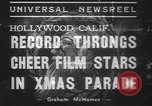 Image of Hollywood Christmas parade Hollywood Los Angeles California USA, 1937, second 10 stock footage video 65675057744