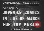 Image of toy parade Dayton Ohio USA, 1937, second 4 stock footage video 65675057745