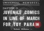 Image of toy parade Dayton Ohio USA, 1937, second 7 stock footage video 65675057745