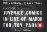 Image of toy parade Dayton Ohio USA, 1937, second 8 stock footage video 65675057745