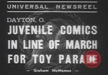 Image of toy parade Dayton Ohio USA, 1937, second 9 stock footage video 65675057745