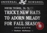 Image of fur hats New York United States USA, 1940, second 2 stock footage video 65675057748
