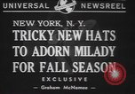 Image of fur hats New York United States USA, 1940, second 3 stock footage video 65675057748