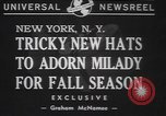 Image of fur hats New York United States USA, 1940, second 5 stock footage video 65675057748