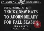 Image of fur hats New York United States USA, 1940, second 6 stock footage video 65675057748