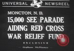 Image of Red Cross parade Moncton Canada, 1940, second 1 stock footage video 65675057750