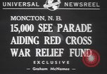 Image of Red Cross parade Moncton Canada, 1940, second 2 stock footage video 65675057750