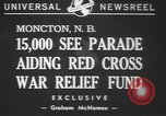 Image of Red Cross parade Moncton Canada, 1940, second 3 stock footage video 65675057750