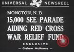 Image of Red Cross parade Moncton Canada, 1940, second 5 stock footage video 65675057750