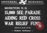 Image of Red Cross parade Moncton Canada, 1940, second 6 stock footage video 65675057750
