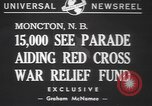 Image of Red Cross parade Moncton Canada, 1940, second 7 stock footage video 65675057750