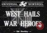 Image of World War II heroes welcomed Los Angeles California USA, 1942, second 4 stock footage video 65675057760