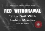 Image of Russian ships Atlantic Ocean, 1962, second 1 stock footage video 65675057790